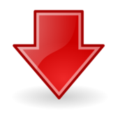 sign,symbol,icon,arrow,down,red