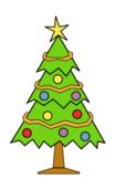 nature,tree,conifer,garden,forest,xmas,christmas,color,green,outline,contour,media,clip art,public domain,image,svg,png