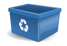 remix,recycling box,box,blue box,clip art,media,public domain,image,svg