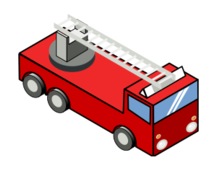 clip art,remix,media,public domain,image,svg,isometric,pixelart,fire engine,fire truck,fire,engine,truck,vehicle