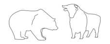 black and white,stock,exchange,animal,bull,bear,silhouette,outline,line art,media,clip art,externalsource,public domain,image,svg