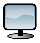 computer,hardware,screen,flat,lcd,display,monitor,glossy,icon,media,clip art,public domain,image,png,svg