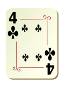 4 of Clubs Playing Card