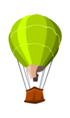 green,air,balloon,travel,rope,cartoon,colour,transportation,media,clip art,public domain,image,svg