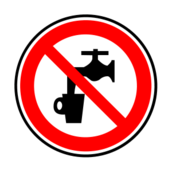 risk,prohibited,sign,drinking,water