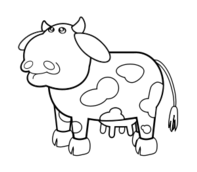 remix,animal,cartoon,cow,bull,farm,dairy,milk,mammal,bovine,line art,colouring book,clip art,media,public domain,image,png,svg,outline