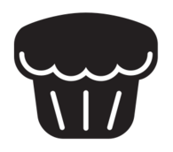 kitchen,icon,muffin,silhouette