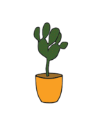 abstract,free form,freeform,retro,shape,shape,clip art,clipart,plant,flower pot,cactus,landscaping