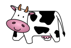 cartoon,cow,horn