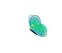 green,butterfly,spot,wing,spring,summer,cartoon,cute