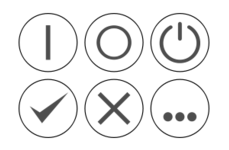 cross,ok,fault,cancel,ellipsis,dot,on,off,gray,black,white,b&w,transparent,icon,power,operate
