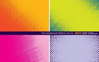 abstract,art,color,colorful,four,half,tone,halftone,dot,dotted,background,wallpaper,misc,object,design,element