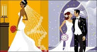 western,style,wedding,material,illustration