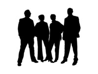 people,silhouette,outline,man,woman,human,person,family