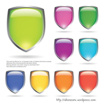 shield,allonzo,inc,vibrant,fresh,button,glowing,bright,glossy,colorful