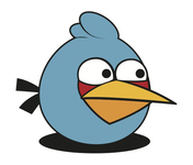 angry bird,blue,bird,cartoon,character,game,video game