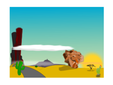 cartoon,sceen,landscape,desert