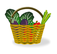 cesta,basket,mimbre,shopping cart,llena,full,shopping basket