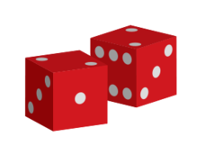 red,dice