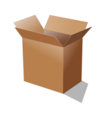 media,clip art,public domain,image,png,svg,container,box,cardboard,empty,open,shadow