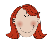 remix,media,clip art,public domain,image,png,svg,lady,face,head,young,woman,smiling,red,redhead,redhaired,worldlabel