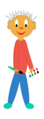 people,child,boy,school,activity,paint,painting,paintbrush,contour,colour