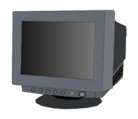 media,clip art,public domain,image,png,svg,technology,computer,school,office,crt,screen,monitor,hardware,device,outline,colour,contour