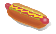 food,fast food,hotdog,sausage,sandwich,color,no contour