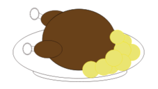 media,clip art,public domain,image,png,svg,food,plate,dish,dinner,chicken,potato,turkey,thanksgiving