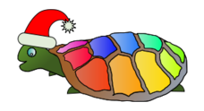 media,clip art,public domain,image,png,svg,cartoon,animal,funny,turtle,hat,christmas,xmas,santa,multicolor