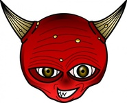 devil,media,clip art,public domain,image,jpg,svg,cartoon,red,evil,hell,face